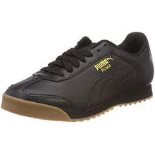 Puma Unisex-Erwachsene Roma Classic Gum Sneaker, Schwarz Black Team Gold 2, 42 EU