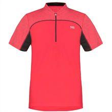 TAO Sportswear Atmungsaktives Herren Funktions kurzarm T-Shirt mit Zip ZIP SHIRT T-Shirts rot Herren
