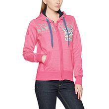 Geographical Norway Damen Sweater Gwen Lady, Rosa (Flashy Pink), X-Large (Herstellergröße: 4)