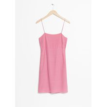 Open Back With Cami Strap Ties Dress - Pink