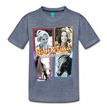 Spreadshirt Bibi Und TinaTohuwabohu Total Sabrina Collage Teenager Premium T-Shirt, 158/164 (12 Jahre), Blau meliert
