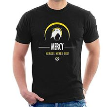 Mercy Heroes Never Die Overwatch Men's T-Shirt