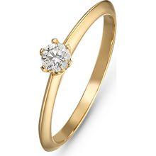 CHRIST Ring gold / weiß