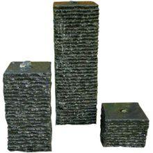 Granit Wasserspiel mit 3 Säulen H15-50 cm anthrazit