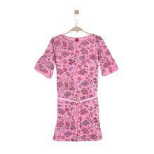 S.Oliver Junior Sweatkleid im Millefleurs-Design mischfarben / pink