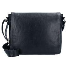 Leonhard Heyden Cambridge Messenger Umhängetasche Leder 32 cm Laptopfach Laptoptaschen schwarz