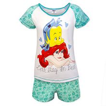 Damen Pyjama / Schlafanzug Zweiteiler Kurz -Kleine Meerjungfrau Disney Ariel motiv