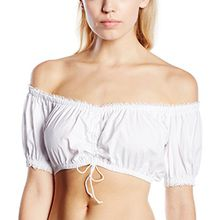 Stockerpoint Damen Regular Fit Trachtenbluse Bluse B-2025, Gr. 36, Weiß (weiß)