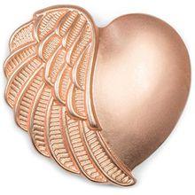 styleBREAKER Magnet Schmuck Anhänger Herz Flügel Design für Schals, Tücher oder Ponchos, Brosche, Damen 05050049, Farbe:Rosegold matt