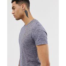Esprit - T-Shirt in Marineblau meliert - Navy