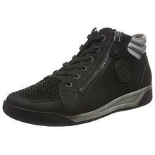 Jenny Seattle, Damen Hohe Sneaker, Schwarz (Schwarz,Gun 05), 38 EU (5 UK)