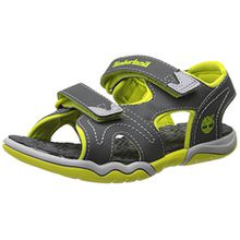 Timberland Active FTK_Adventure Seeker 2 Unisex-Kinder Sandalen, Grau (Dark Grey with Green), 34 EU