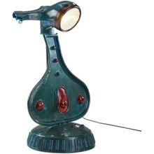 Metall Tischlampe, E27 Fassung, H72 cm blau/türkis