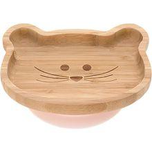 Kinderteller Snacks Bambus/ Holz, Little Chums Mouse, beige beige-kombi  Kinder