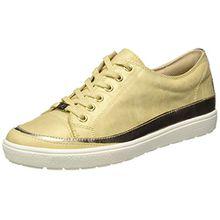 Caprice Damen 23654 Sneakers, Gelb (Saffron Met.Mu),40.5 EU (7 UK)