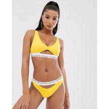 Calvin Klein - Gelbes Bikinioberteil mit Zierausschnitt - Gelb