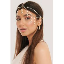 NA-KD Accessories Pearl Detailed Ornament Headpiece - Gold