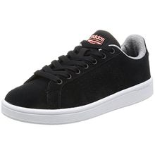 adidas Damen Cloudfoam Advantage Sneakers, Schwarz (Cblack/Cblack/Sunglo), 38 2/3 EU