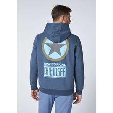 CHIEMSEE Kapuzenpullover mit großem Rückenprint - GOTS zertifiziert blau-kombi Herren