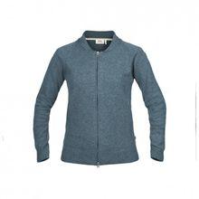Fjällräven - Women's Övik Re-Wool Zip Jacket - Wolljacke Gr L grau/lila/blau