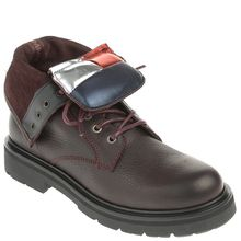 Tommy Jeans Schnürboots - BIG FLAG LACE UP BOOT braun
