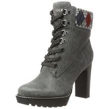 Tommy Hilfiger Damen I1285LEEN 18B1 Chukka Boots, Grau (Magnet), 39 EU