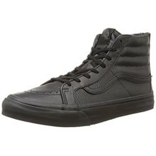 Vans U Sk8-hi Slim Zip Perf Leather, Unisex-Erwachsene Sneakers, Schwarz (Perf Leather/Black/Black), 39 EU