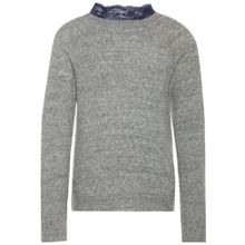 NAME IT Strickpullover 'NKFNIALY' graumeliert