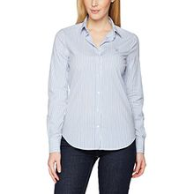 GANT Damen Slim Fit Hemd, Broadcloth Stretch Striped Shirt, Gr. 40 (Herstellergröße: 14), Blue (Nautical Blue)