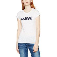 G-STAR RAW Raw Damen T-Shirt Saal Slim R T Wmn S/S, Weiß (White 110), 42 (Herstellergröße:XL)