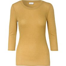 VILA 3/4-Arm-Shirt gelb Damen