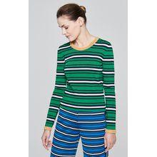 Escada Streifen-Pullover mit Lurex-Abschlüssen