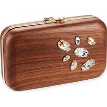 Wood Crystallized Espey Tasche, vergoldet