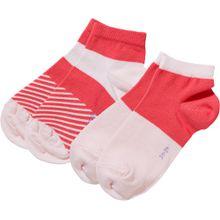 ESPRIT Kinder Sneakersocken Colour Block 2er-Pack orangerot / weiß