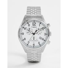 Timex ‒ Waterbury ‒ Traditionelle Chronograph-Armbanduhr in Silber - Silber