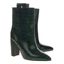 Croco Boot Green
