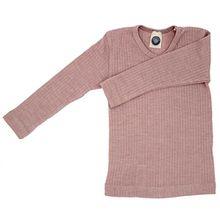 Cosilana Kinderhemd, Größe 140, Farbe Rosa meliert - Exclusiv Wollbody®GmbH - Qualität 91 45% Baumwolle kbA, 35% Schurwolle kbT, 20% Seide