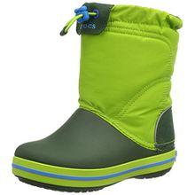 crocs Crocband LodgePoint Boot, Unisex-Kinder Kurzschaft Schlupfstiefel, Grün (Lime/Forest 33T), 32/33 EU (J1 Unisex-Kinder UK)