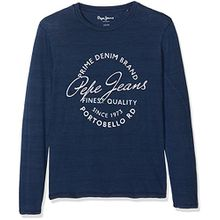 Pepe Jeans Jungen Long Sleeve Top Jess JR, Blau (Indigo), Herstellergröße: 8