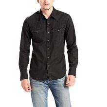 Levis Barstow - Jeans Westernhemd in reinem schwarz