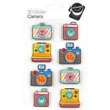 "8-tlg. 3D Sticker Set ""Kamera"" bunt"