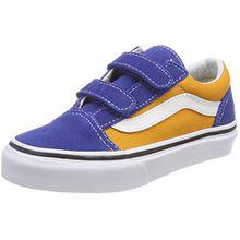 Vans Unisex-Kinder Old Skool V Sneaker, Mehrfarbig (Pop), 33 EU