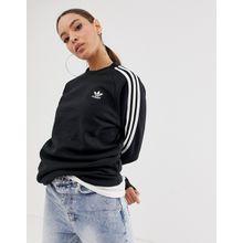adidas Originals - adicolor - Schwarzes Sweatshirt mit Rundhalsausschnitt und drei Streifen - Schwarz