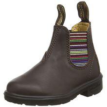 Blundstone Classic, Unisex-Kinder Kurzschaft Stiefel, Braun (Brown/Stripped), 34 EU (3 UK)