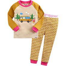 Vaenait Baby Kinder Maedchen Nachtwaesche Schlafanzug-Top Bottom 2 Stueck Set Joy Trip M