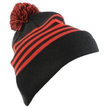 Mons Royale - Stripe Pom-Pom Beanie - Mütze Gr One Size schwarz/rot