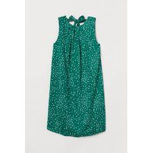 H & M - Kleid mit Bindebändern - Green - Damen