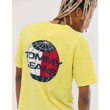 Tommy Jeans - Summer Heritage Capsule - Gelbes T-Shirt mit Logodruck am Rücken - Gelb