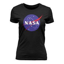 Outfitfaktur NASA Logo - Damen T-Shirt - Schwarz - XL