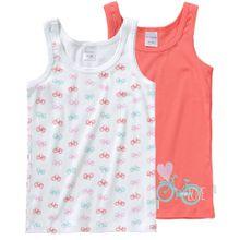 SCHIESSER Unterhemd hellblau / koralle / pink / weiß